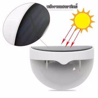 LIFANGCAI โคมไฟ LED โซลาร์เซลล์ ติดผนังแสงสว่าง พลังงานแสงอาทิตย์ Solar LED