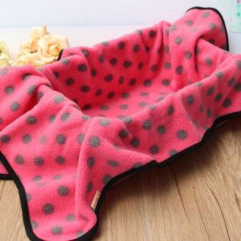 Harga Channy Polar Fleece Soft Warm Dog Cat Rabbit Puppy Bed Blanket Mat Cover Large Size Rose