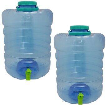 ถังน้ำดื่มใส รุ่นมีก๊อก ขนาด 20 ลิตร ( ถัง 2 ใบ/แพ็ค )