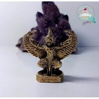 hindd พญาครุฑ ด้านหลังเป็นพระอุปคุต เนื้อทองเหลืองอย่างดี