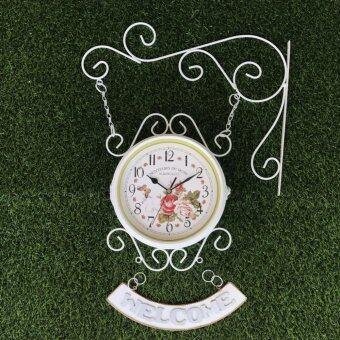 Kristra home&Decoration นาฬิกาสองหน้าวินเทจ KC0803-White
