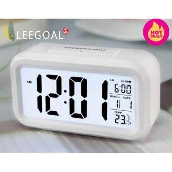 Leegoal นาฬิกาปลุก led แบบกับขาวสว่างอุณหภูมิตอนกลางวัน (ขาว) (ในประเทศ)