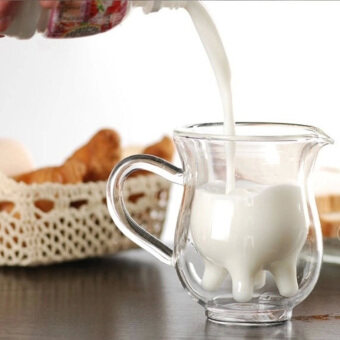 ความร้อนป้องกันผนังสองถ้วยกาแฟแก้วนมร้อนแก้วถ้วยสองชั้น