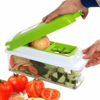 SavaRoseเครื่องหั่น สับ ซอย สไลซ์ ผักและผลไม้อเนกประสงค์ (Green)
