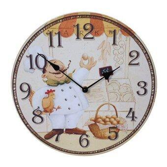 34 cm.Kristra Home&Decoration นาฬิกาแขวนผนัง แนววินเทจ รุ่น T60510