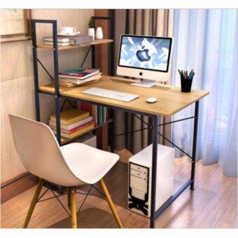 Asia โต๊ะทำงาน ขนาด 1เมตร รุ่น BP216 Loft Style โครงดำ-เมเปิ้ล