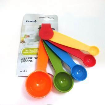 ชุดช้อนตวง 5 ขนาด (สีเขียว/ส้ม/น้ำเงิน/แดง/เหลือง)