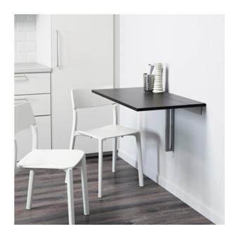 โต๊ะพับได้ ยึดผนัง โต๊ะทานข้าว โต๊ะทำงาน ประหยัดพื้นที่ได้อย่างดี ขนาด 90x50ซม.สีดำ HomeSmile