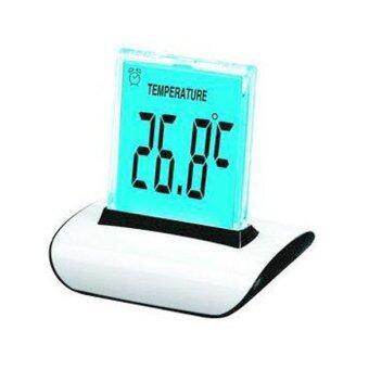 7 สีดิจิตอลนาฬิกาปลุกตั้งโต๊ะปฏิทินเครื่องวัดอุณหภูมิกลางคืนแสงไฟขาว