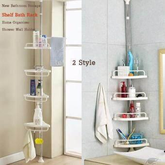 ชั้นวางของในห้องน้ำแบบเข้ามุม 4 ชั้น ปรับยืดขยายสูงต่ำได้ 1-3 เมตร