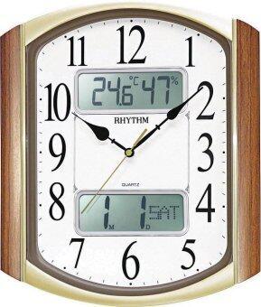 RHYTHM นาฬิกาแขวนพลาสติก รุ่น CFG708NR06 - Brown