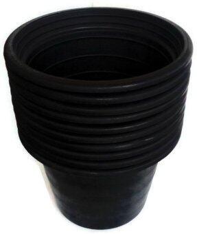 Papamami กระถางพลาสติกกลมสีดำ 17 นิ้ว (10ใบ)