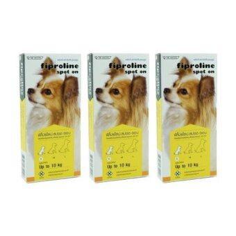 fiproline ยาหยอดกำจัดเห็บ หมัด สุนัข น้อยกว่า 10 กิโลกรัม (3 units)