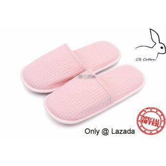 cb cotton รองเท้ารังผึ้ง พื้นนุ่ม Free size (สีชมพู) only @ Lazada