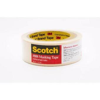 SCOTCH® MASKING TAPE 36MMX25YD เทปกระดาษกาวย่น 36 มม. X 25 หลา (แพ็ค 5 ชิ้น)