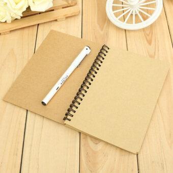 Reeves มัดขดลวดเรโทรสมุดวาดเขียนสมุดว่าง Kraft กระดาษวาดรูป Kraft ปกกระดาษ Kraft หน้ากระดาษภายใน