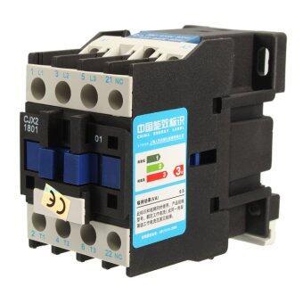 คอนแทครีเลย์มอเตอร์สตาร์ทมอเตอร์แอร์ CJX2-1801 3 เสา+1NC 380โวลต์ 18 amps ขด 4/7, 5KW