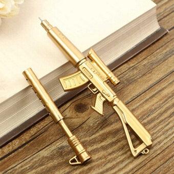 ครีเอทีฟของใหม่สวยทองรูปทรงการออกแบบปืนสีดำหมึกปากกากระดาษทอง