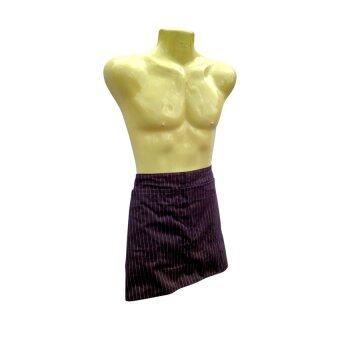 Thai Style ผ้ากันเปื้อนแบบครึ่งตัว สีน้ำตาล