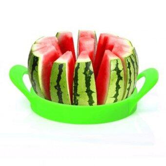 ENJOYSHOP Melon Cutter โปรโมชั่น ลดล้างสต๊อก ที่หั่นแตงโม ขนาดใหญ่ เครื่องตัดแตงโม ที่ตัดแตงโมทั้งลูก (สีเขียว)