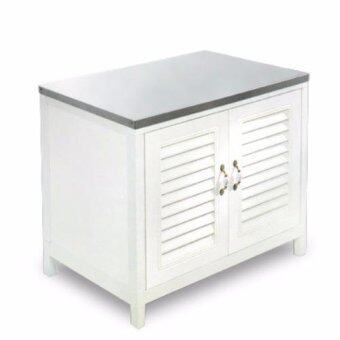 Advanceตู้พร้อมซิงค์หน้าเรียบ CAVT9060 ครีม(Cream)