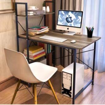 Asia โต๊ะทำงาน ขนาด 1เมตร รุ่น BP216 Loft Style โครงดำ-วอลนัท