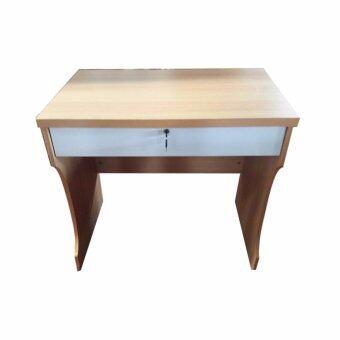 Asia โต๊ะทำงาน ขนาด80ซม. รุ่นมีลิ้นชัก สีบีช/ขาว RNC
