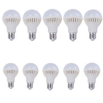 Energy Seven7 shop Energy LED หลอดแอลอีดี ประหยัดไฟ ชนิดเกลียว E27 หลอดLED 5w (สีขาว)แพ็ค 10ชิ้น