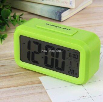 Cassablu นาฬิกาปลุกตั้งโต๊ะ นาฬิกาปลุกเรื่องแสง นาฬิกาปลุก สีเขียว (image 0)
