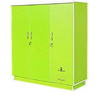 RF Furniture ตู้เสื้อผ้าเด็ก 120 cm 3ประตูทึบ รุ่น Wk003p-g ( สีเขียวเรียบ )