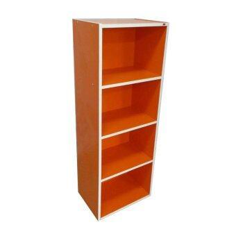 ชั้นอเนกประสงค์ รุ่นกล่องสี 4 ช่อง (สีส้ม)