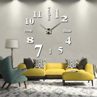 Fashion Home Decoration 3D Diy Wall Clock - intl