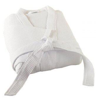 CB Cotton เสื้อคลุมอาบน้ำวัฟเฟิล - White
