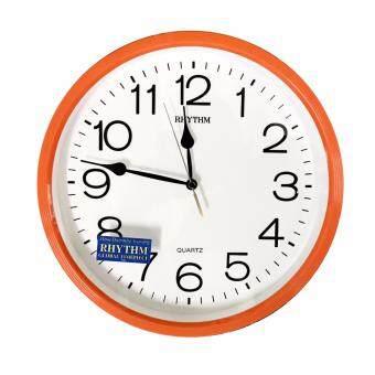 RHYTHM นาฬิกาแขวน รุ่น CMG734ER14 (สีส้ม/ขาว)