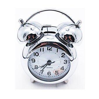 Startup นาฬิกาปลุก นาฬิกาตั้งโต๊ะ รุ่น WK-7701-2 ( สีเงิน )