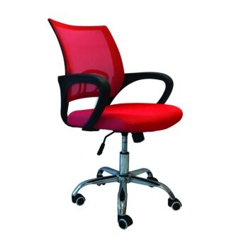 B&G โฮมออฟฟิศ เก้าอี้สำนักงาน เก้าอี้นั่งทำงาน (Red) - รุ่น B