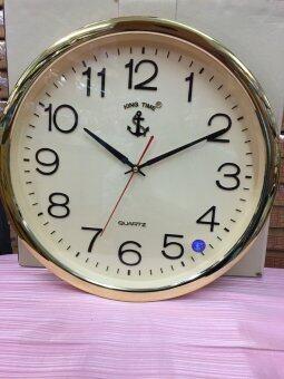 KING TIME นาฬิกาแขวนรุ่น 016GQC - Gold