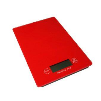 Startupเครื่องชั่งน้ำหนักMiror Red Kitchen Scale -สีแดง