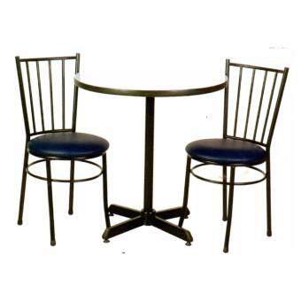 ASIA ชุดโต๊ะอาหาร รุ่นคาเฟ่+เก้าอี้เบาะหนัง2ตัว รุ่นวิลลี่