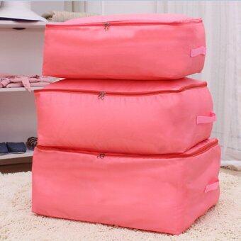 Gracefulvara กระเป๋าผ้าห่มเสื้อผ้าพับเก็บ (สีชมพู)