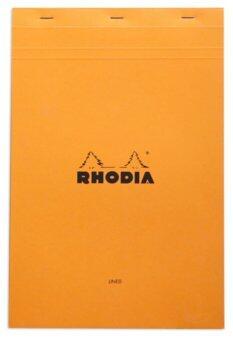 Rhodia สมุดโน๊ตแบบฉีกได้ A4 รุ่น Bloc head stapled pads No.19 (ปกสีส้ม)