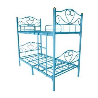 ISO เตียงเหล็ก 2 ชั้น ขนาด 3.5 ฟุต รุ่นโลตัส