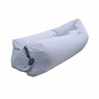 DT โซฟาลม ที่นอนเป่าลมแบบพกพา Air Sofa (สีเทาเข้ม)
