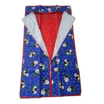 Richer อะไหล่ตู้ผ้า ผ้าพลาสติก 70x45x150cm.(ลายการ์ตูนสีน้ำเงิน)
