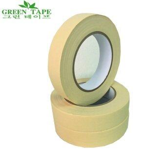 TPS Green Tape เทปกระดาษกาวย่น MASKING TAPE รุ่นทนความร้อน ขนาด 1 นิ้ว X 50 เมตร แพ็ค 6 ม้วน