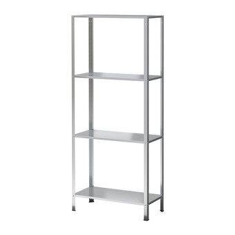 IKEA ชั้นวาง Hullis 4ชั้น เหล็กชุบกัลวาไนซ์ 60 x 140 ซม.