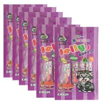 Petto tomodachi Jelly's queese แมวเลีย รสปลากะพง 15gx4 ( 6 units )