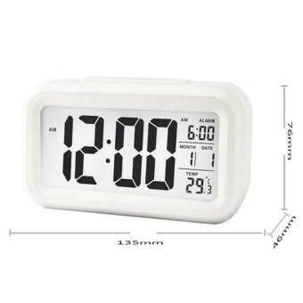 iremax นาฬิกาปลุก led แบบกับขาวสว่างอุณหภูมิตอนกลางวัน (ขาว)