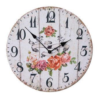 34cm.Kristra Home&Decoration นาฬิกาแขวนผนัง แนววินเทจ รุ่นT60532