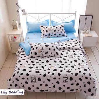 Lily Bedding ผ้าปูที่นอน 6 ฟุต 5 ชิ้น + ผ้านวม เกรดเอ ลาย YK016